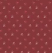 Braveheart by Makower UK - 6650 - Leaf Sprigs on Deep Red  - 9184_R - Cotton Fabric